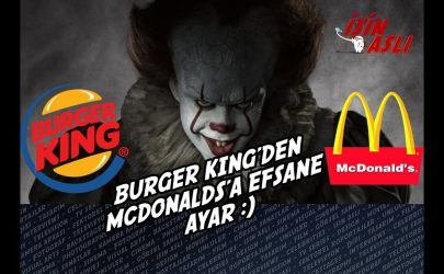 Burger King'den McDonalds'a Efsane Troll – Stephen King's It